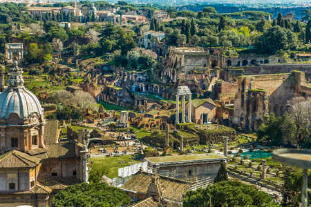 forums: italy, rome  roman forum from the monument to vittorio emanuele ii of view Stock Photo