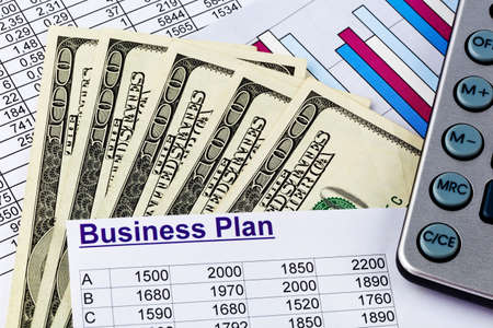 a business plan for starting a business  ideas and strategies for self-employment  dollars and calculator
