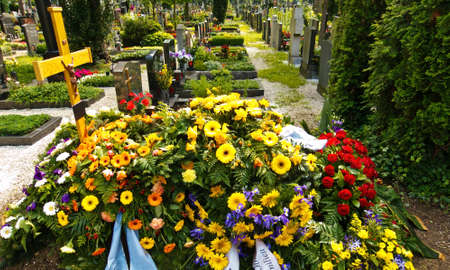 all weather: in a cemetery, a fresh grave is for a funeral.