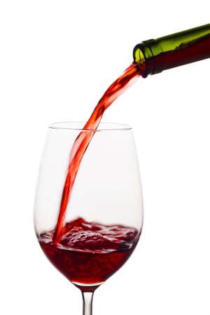 元気いっぱいの赤ワインのガラスが空です。ワインのガラスの赤ワイン