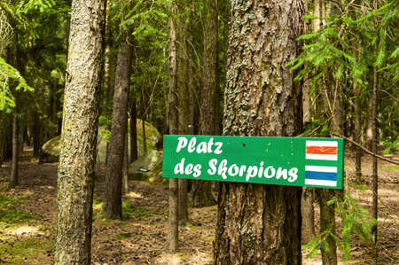economic botany: the place of the scorpion in kautzen in lower austria. known place for esoteric Stock Photo