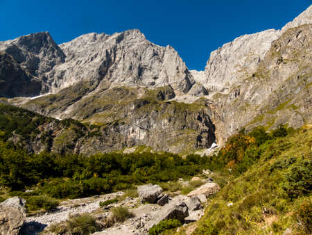 hillwalking: mountains in the province of salzburg in the austrian province of salzburg