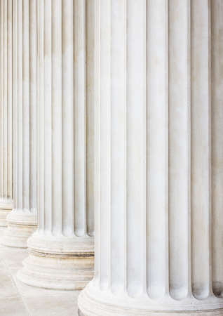 statics: columns at the parliament in vienna, symbol photo for architecture, stability, history