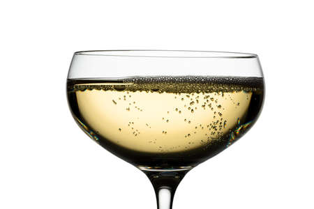 bubbly: champagne with champagne glass. symbolic photo for celebrations and new year. Stock Photo