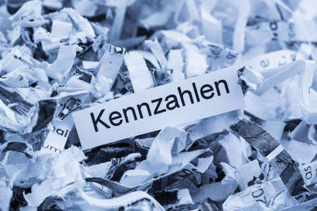 shredded paper for keyword metrics, symbol photo for data destruction, business and economic development Stock Photo - 28236790