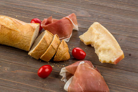 arouse: a wake of fresh white bread. food from the bakery Stock Photo
