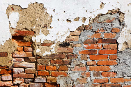 renovate old building facade: the facade of an old residential building will be renovated.