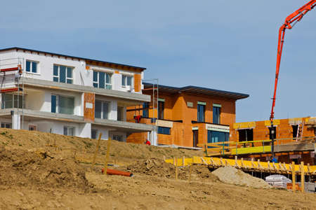 single familiy: a settlement of new single-family homes will be built Stock Photo