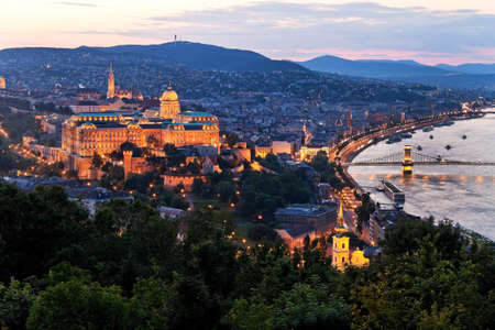 buda: anichten city and skyline of budapest, the capital of hungary