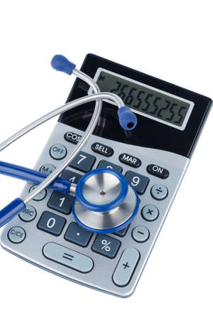 physicans: stethoscope and calculator