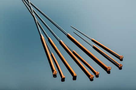 meerdere naalden voor acupunctuur Stockfoto