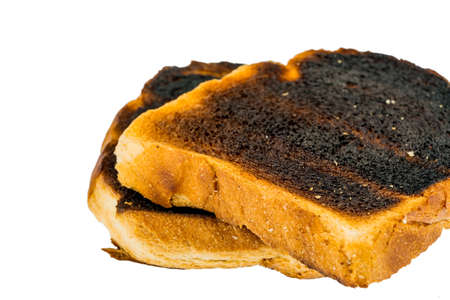 scorch: toast was burnt during toasting
