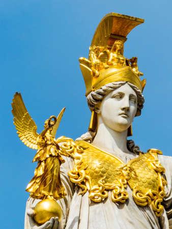 athene: the statue of pallas athene the greek goddess of wisdom.
