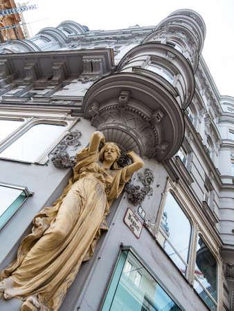 Skulptur in der Villa, Symbolfoto für Architektur, alte Gebäude, Struktur