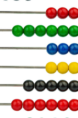 mathematically: abacus with colored beads, symbol photo for finance, costing and accounting Stock Photo