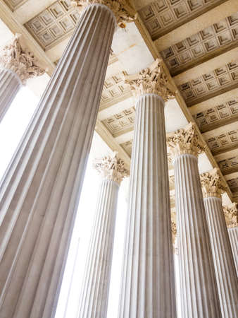 columns at the parliament in vienna, symbol photo for architecture, stability, history photo
