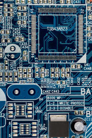 digitization: computer board, symbol photo for computers, miniaturization, high-tech