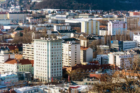 apartment shortage: blocks of flats in graz, styria, austria