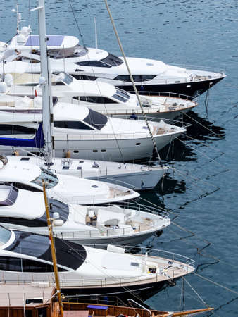 jetset: marina with yachts, symbol photo for water sports, luxury, vacation Stock Photo