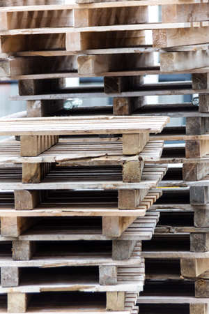 freight forwarding: stacked pallets, symbol photo for freight transport and logistics