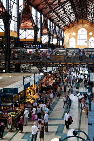 great hall: the great market hall in budapest (hungary) offers lively music and great selection of fruit and vegetables