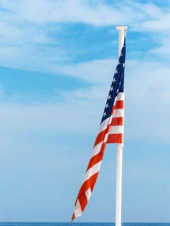 sovereignty: national flag of the united states, symbolic photo for patriotism, sovereignty, crisis Stock Photo