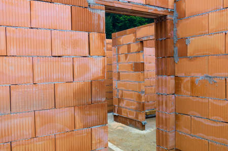 single familiy: a detached house is built of solid construction with brick.