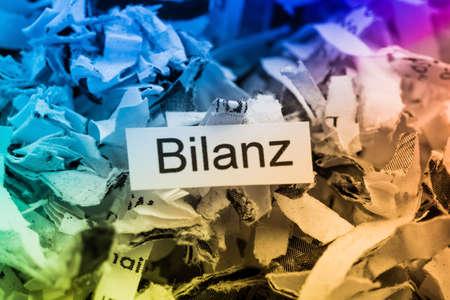 shredded paper for keyword balance Stock Photo