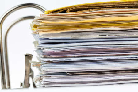 folder with documents: a file folder with documents and documents. retention of contracts.