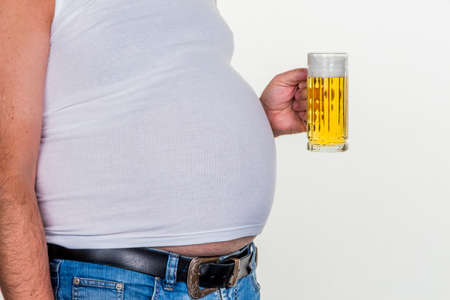 man with overweight. photo