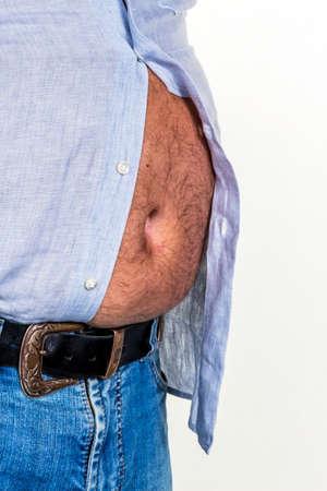 başarısız: Bira göbek, başarısız diyetler ve kötü beslenme için sembol fotoğraf.