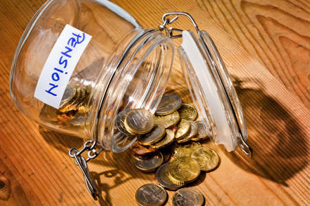 provision: gold coins in a jam jar. the provision for old age is always less. poverty in retirement  pension?