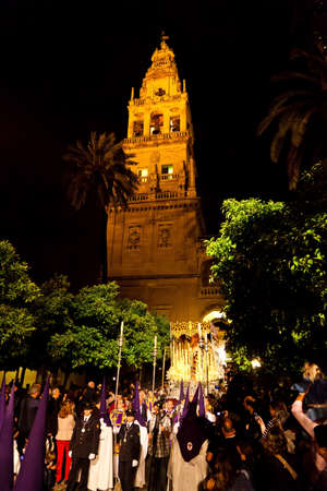 semana santa: 20.04.2011 - spain, andalusia. the highlight of holy week processions are the semana santa. here in cordoba.
