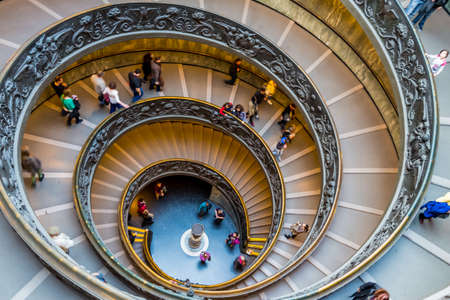 italy, rome, vatican museum, spiral staircase by giuseppe momo Editorial