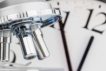 klinik: close-up of a microscope