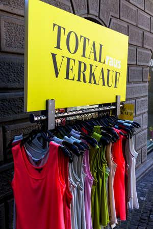 dissolution: total sales in a textile shop