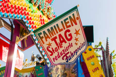 better price: on a folk festival is an action for families. family day at the carousel. Stock Photo
