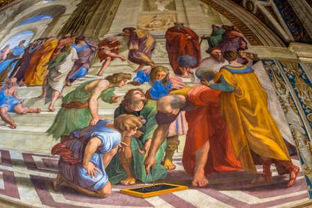 estrofa: Museo del Vaticano, las Estancias de Rafael. Estrofa Della Signatura