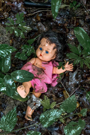 abuso sexual: el abuso de los niños como una foto símbolo. el abuso infantil y la violencia familiar Foto de archivo