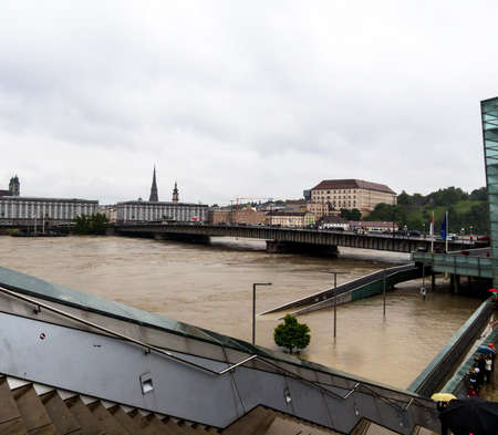 overflows: flood 2013 linz, austria. overflows and flooding