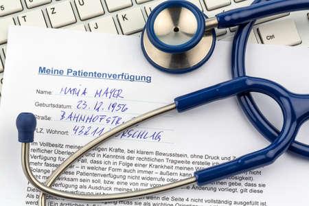 testament schreiben: Eine Patientenverf�gung in Deutsch Sprache. Anweisungen f�r den Arzt oder ein Krankenhaus im Falle einer unheilbaren Krankheit.
