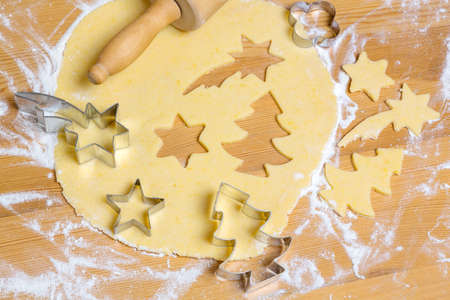 the anticipation: baking cookies and biscuits for christmas. anticipation of advent.