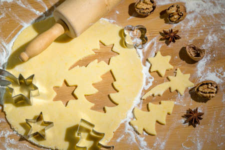 make a gift: baking cookies and biscuits for christmas. anticipation of advent.