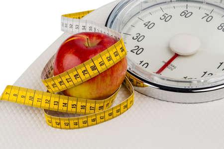 Foto Symbol für Abnehmen und gesunde, vitaminreiche Ernährung.
