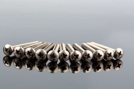 hobbyist: various screws in the workshop in a commercial operation.