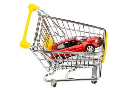 behave: a car in the shopping cart as a symbol for car buying and leasing