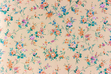 decent: an old retro wallpaper with a flower pattern.