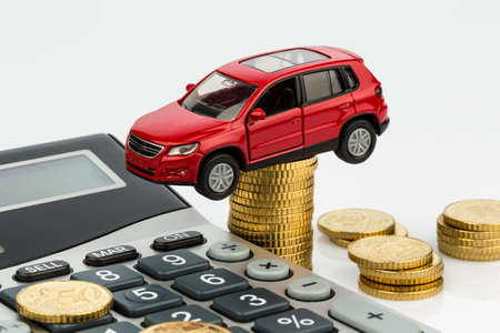 car leasing: car and calculator. rising costs for buying a car, leasing, service, refueling and insurance