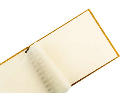 notieren: ring binder against white background, symbol photo for organization, notes, ideas Stock Photo