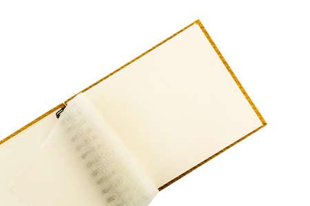 Ring Binder Against White Background Symbol Photo For Organization